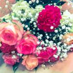 いただいた花束