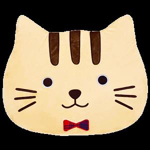 猫型ルームマット